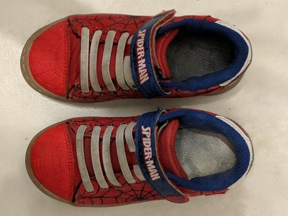 Zapatillas Luces Led Spiderman Hombre Araña Marvel Usa