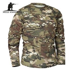 Camiseta Unissex M. L. Camuflada Exército Militar + Promoção