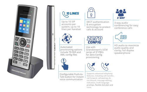 Telefono Grandstream Ip Inalambrico Dp-722 Icb Technologies