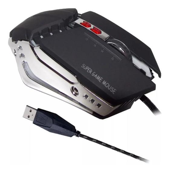 Mouse Gamer Usb Led Rgb 3200dpi Alta Precisão Barato