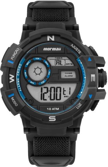 Relógio Masculino Digital Mormaii Puls Velcro Mo3231aa/8a