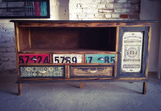 Mueble Rack Tv /audio Estilo Vintage Industrial