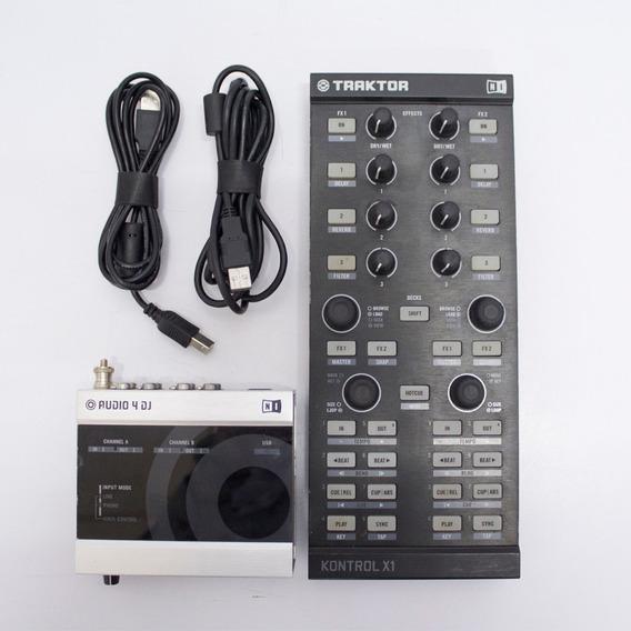 Controladora Kontrol X1 + Placa De Audio 4 Dj