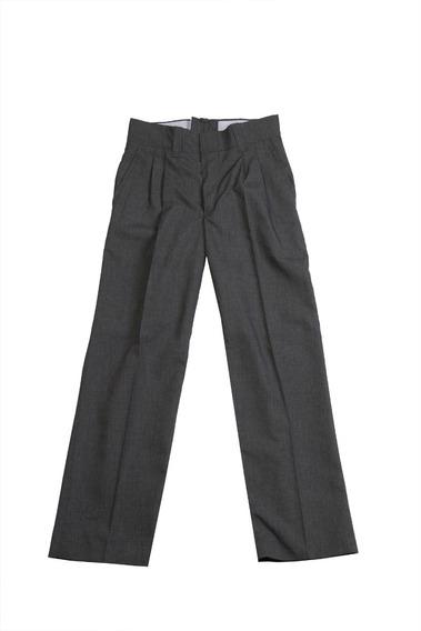 Pantalon Sarga Vestir Tropical Colegial Gris Niño T04 Al 16