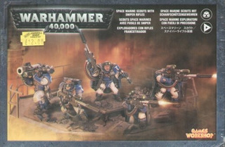 Juegos Taller Space Marines Scouts W / Sniper Rifles 40k
