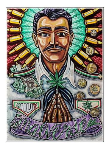 Poster Grande 60x84cm Jesus Malverde Bom Bandido Mexicano