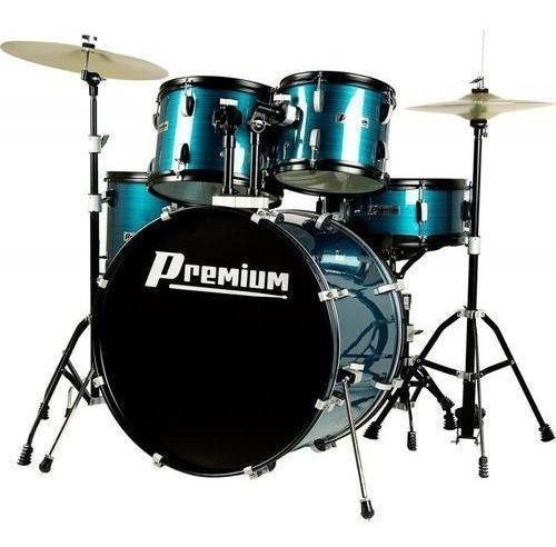 Bateria Premium Dx722 Bl - Acústica, Cor Azul, Bumbo 22