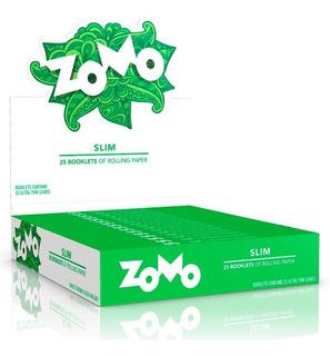 Seda Zomo Slim Master Verde King Size 1 Caixa Com 25 Livreto