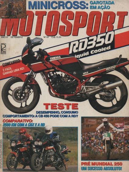 Moto Sport N°22 Yamaha Rd 350lc Fazer Fzx 700 Honda Cbx 750f