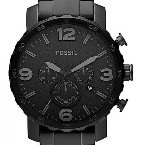 Relógio Fossil Masculino Preto  Nate - Jr1401