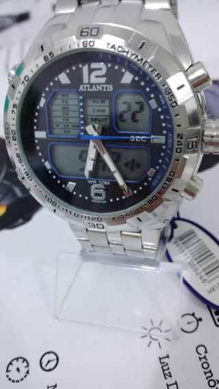 Relógio Atlantis G3225st Ana-digi