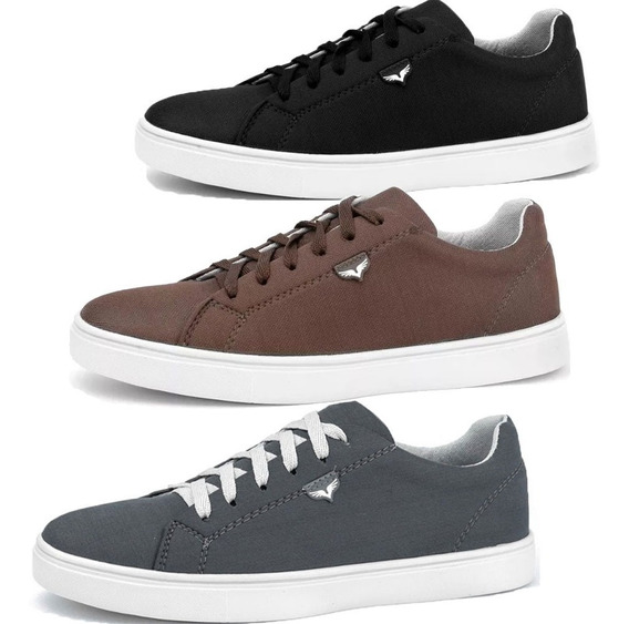 Kit 3 Pares Tenis Casual Masculino Lifestyle Jogging Skate