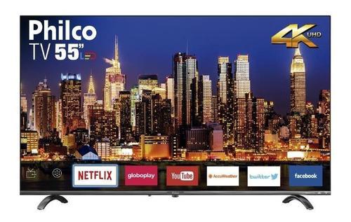 Smart Tv Philco 55  Led Ultra Hd 4k Hdr Cinza Bivolt