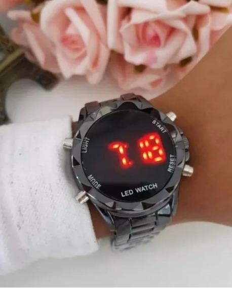 Relógio Digital Feminino Pulseira Ajustável Várias Cores