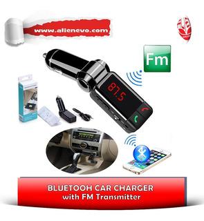 Cargador/transmisor De Señal Bluetooth Para Autos