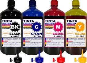 Kit Tinta Epson 4 Litros Impressoras L395 L396 L355 L365