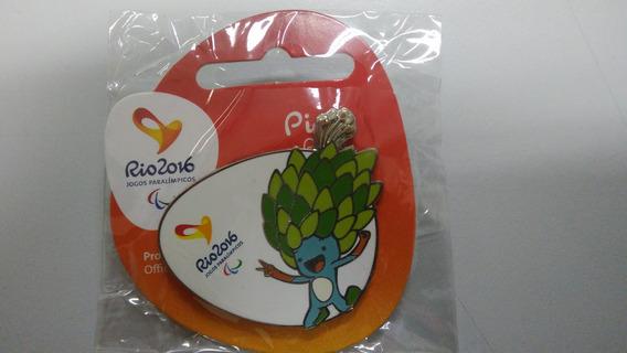Pin Oficial Mascote Tom Jogos Paralímpicos