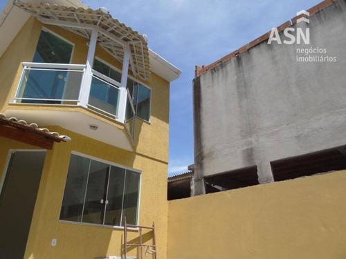 Ampla Casa Com 2 Dormitórios À Venda, 100 M² Por R$ 330.000 - Jardim Mariléa - Rio Das Ostras/rj - Ca0288