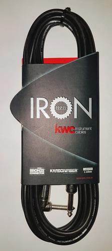 Imagen 1 de 5 de Cable Kw Iron 221 ,plug 90º/plug,6 M ,5 Años/garantía/eterno