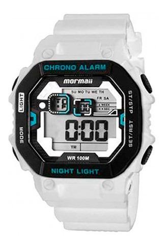 Relógio Mormaii Masculino Digital Monf001a/8b Branco