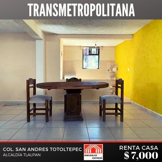 Casa En Renta Tipo Loft, Tlalpan
