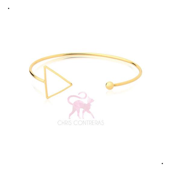 Pulseira Bracelete Feminino Dourado Semi Joia