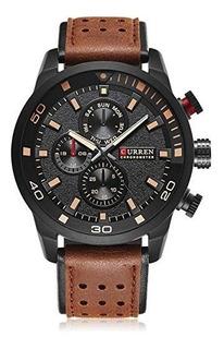 Reloj Hombre De Cuero Curren 8250 Nuevos Fiables Garantía