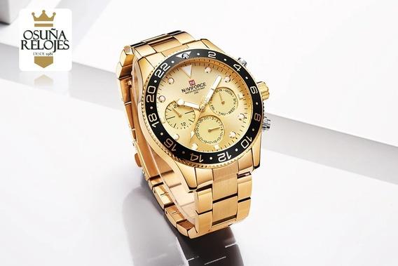 Relógio Masculino Naviforce 9147 Luxo Original Na Caixa