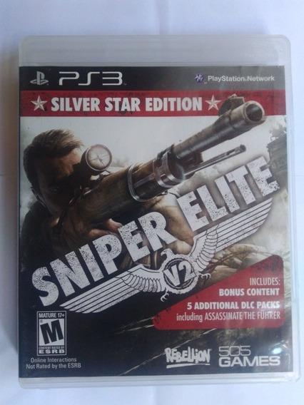 Jogo Sniper Elite V2 Edição Silver Star Ps3 R$69,9