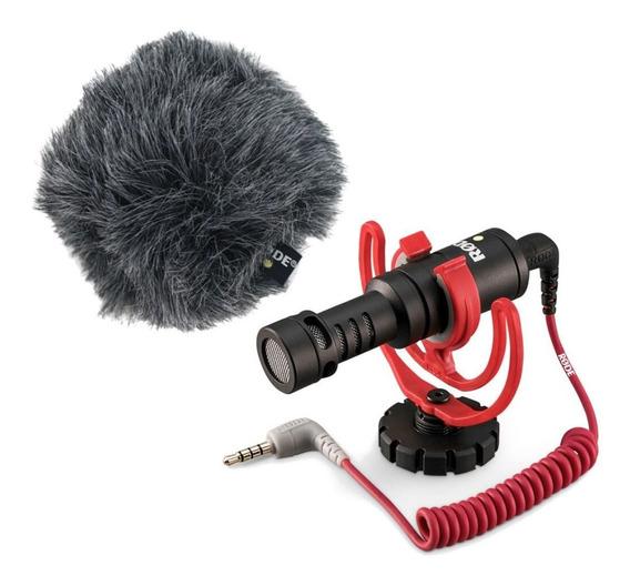 Microfone com acessórios Rode VideoMicro condensador black