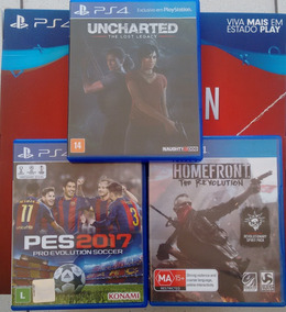Jogos Ps4 Combo Uncharted The Lost Legacy+homefront+pes 2017
