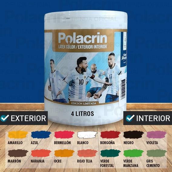 Latex Interior Exterior Color Polacrin 4 Lts Premium Lavable
