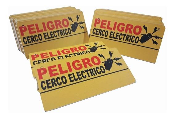 Cartel Peligro Cerco Eléctrico Seguridad