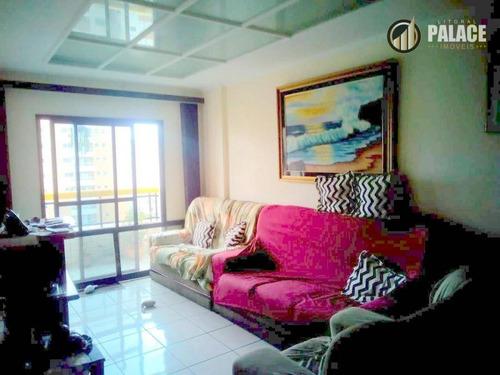 Apartamento Com 2 Dormitórios À Venda, 84 M² Por R$ 315.000,00 - Vila Guilhermina - Praia Grande/sp - Ap2446