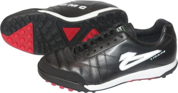 Zapatos De Futbol Rapido Olmeca Liga 8 En Piel/mf Negro/rojo