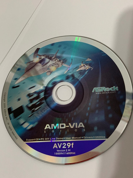 Guia K7vm3 Original + Cd Drivers Placa Mae Asrock Av29f Amd