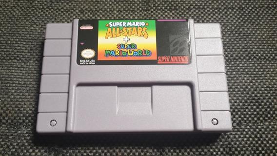 Mario Allstars + Mario World Salvando ( Fita Nova )