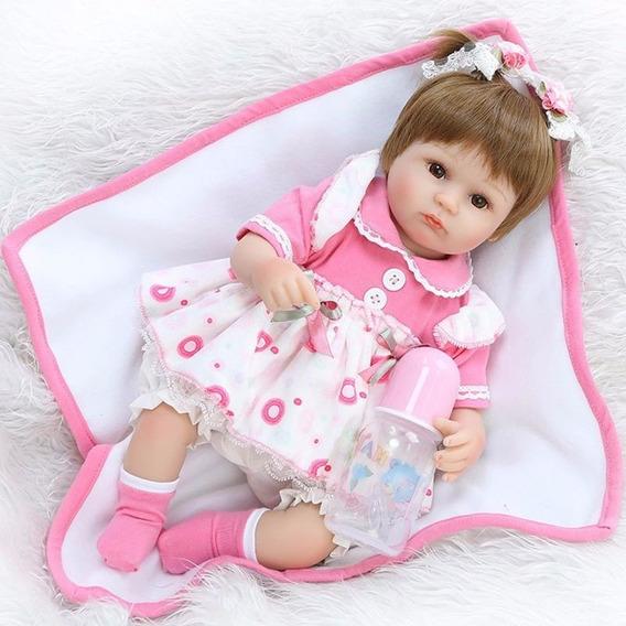 Bebe Reborn Boneca Silicone Menina Barato Promoção Cobertor
