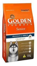 Ração Golden Formula Cães Sênior Frango 15kg + Brinde