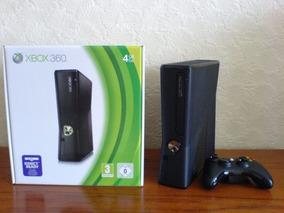 Xbox 360 Slim Seminovo 1 Controle Roda Qualquer Jogo+3 Jogos