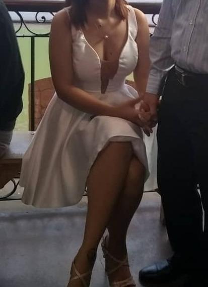 Vestido Corto De Novia / Boda Civil Andartu