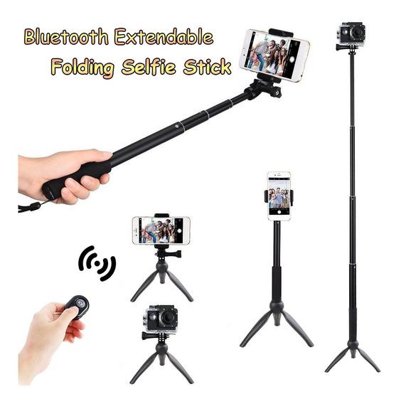 Remoto Controle Bluetooth Extensível Monopé Selfie Vara Trip