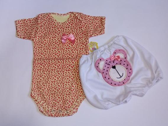 Body + Shortinho C/ Aplicação, Para Bebês Menino E Menina