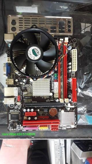 Combo Tarjeta Madre Biostar G41d3c, 2gb Ram., Pentium D
