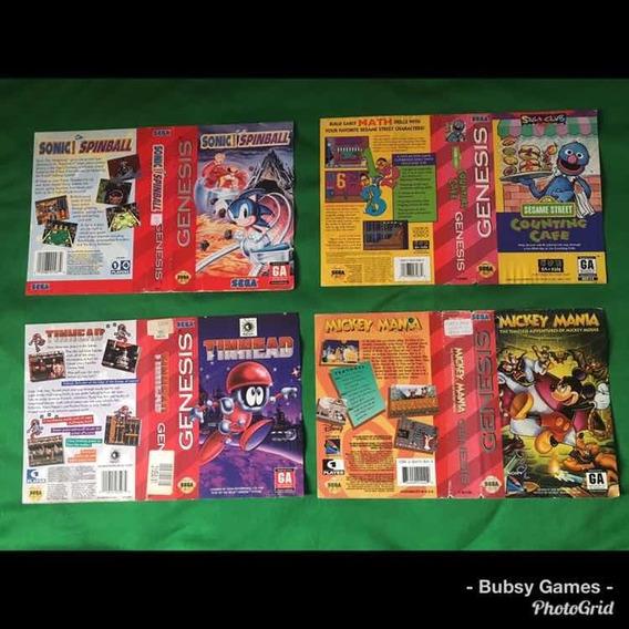 Encartes Mega Drive Genesis -sonic Spinball-mickey Mania...