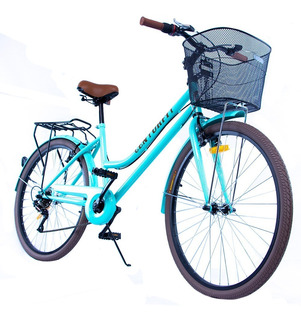 Bicicleta Vintage Retro 6vel, 26r Canasta Frenos V.brake
