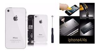 Tampa Traseira iPhone 4 A1332 Branca + Chave 0.8 + Pelicula