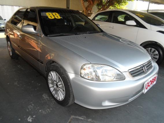 Honda / Civic Lx 1999 Prata