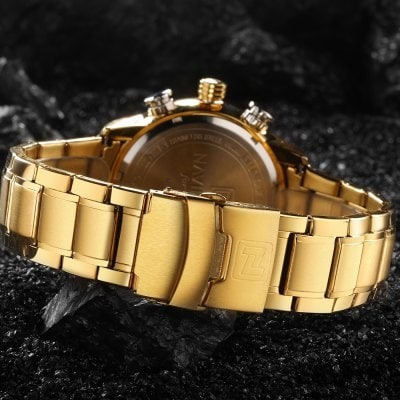 Naviforce 9093 Relógio De Negócio Para Homem - Dourado