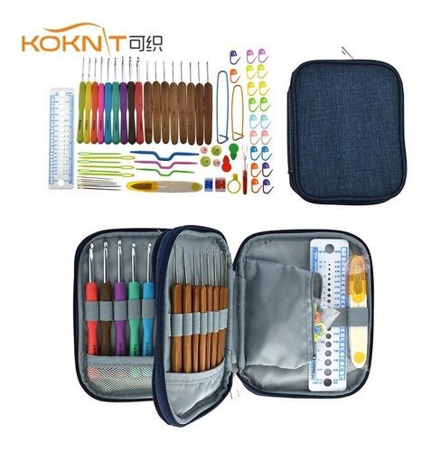 Kit Koknit Crochet - Agujas De Tejer De Ganchillo De Bambú